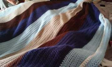 The crochet blanket I made for my sister